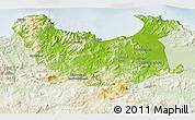 Physical 3D Map of Skikda, lighten