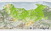 Physical 3D Map of Skikda, semi-desaturated