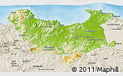 Physical 3D Map of Skikda, shaded relief outside