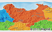 Political 3D Map of Skikda