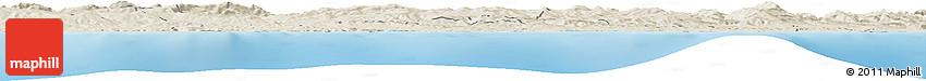 Shaded Relief Horizon Map of Skikda
