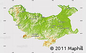 Physical Map of Skikda, cropped outside