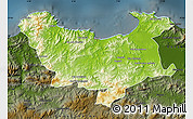 Physical Map of Skikda, darken