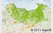 Physical Map of Skikda, lighten