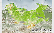 Physical Map of Skikda, semi-desaturated