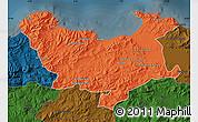 Political Map of Skikda, darken