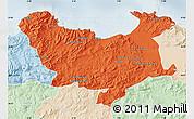 Political Map of Skikda, lighten