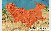 Political Map of Skikda, satellite outside