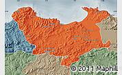 Political Map of Skikda, semi-desaturated