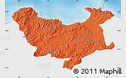 Political Map of Skikda, single color outside