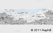 Gray Panoramic Map of Skikda