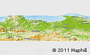 Physical Panoramic Map of Skikda