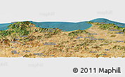 Satellite Panoramic Map of Skikda
