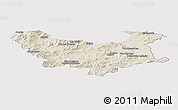 Shaded Relief Panoramic Map of Skikda, cropped outside