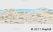 Shaded Relief Panoramic Map of Skikda