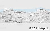 Silver Style Panoramic Map of Skikda