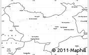 Blank Simple Map of Skikda