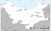Gray Simple Map of Skikda