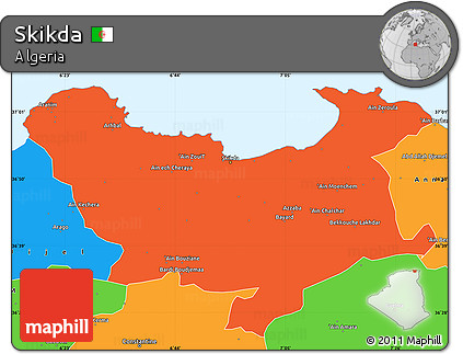 Political Simple Map of Skikda