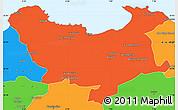 Political Simple Map of Skikda