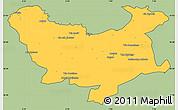 Savanna Style Simple Map of Skikda, cropped outside