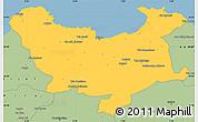 Savanna Style Simple Map of Skikda