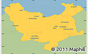Savanna Style Simple Map of Skikda, single color outside