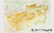 Physical 3D Map of Souk Ahras, lighten