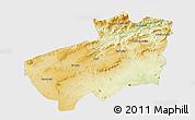 Physical 3D Map of Souk Ahras, single color outside