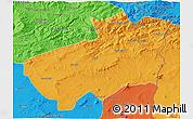 Political 3D Map of Souk Ahras