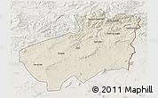 Shaded Relief 3D Map of Souk Ahras, lighten
