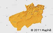 Political Map of Souk Ahras, cropped outside