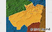 Political Map of Souk Ahras, darken