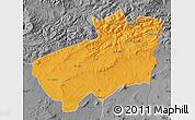Political Map of Souk Ahras, desaturated