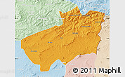 Political Map of Souk Ahras, lighten