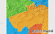 Political Map of Souk Ahras