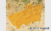 Political Map of Souk Ahras, satellite outside