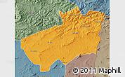 Political Map of Souk Ahras, semi-desaturated