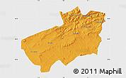 Political Map of Souk Ahras, single color outside