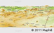 Physical Panoramic Map of Souk Ahras