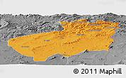 Political Panoramic Map of Souk Ahras, desaturated