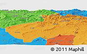 Political Panoramic Map of Souk Ahras