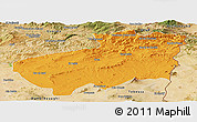 Political Panoramic Map of Souk Ahras, satellite outside