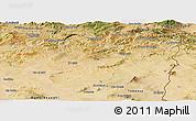 Satellite Panoramic Map of Souk Ahras