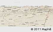 Shaded Relief Panoramic Map of Souk Ahras