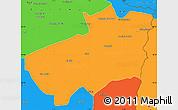 Political Simple Map of Souk Ahras