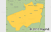 Savanna Style Simple Map of Souk Ahras