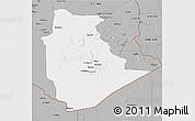 Gray 3D Map of Tamanrasset