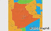 Political 3D Map of Tamanrasset