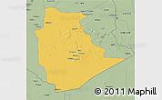 Savanna Style 3D Map of Tamanrasset